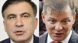 Саакашвили иЛяшко устроили перепалку впрямом эфире— видео