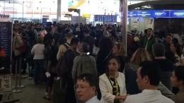 Пассажиры жалуются наогромные очереди нарегистрацию в«Шереметьево»— видео