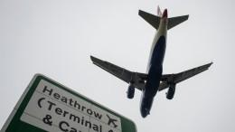 Мужчина выпал изсамолета над Лондоном