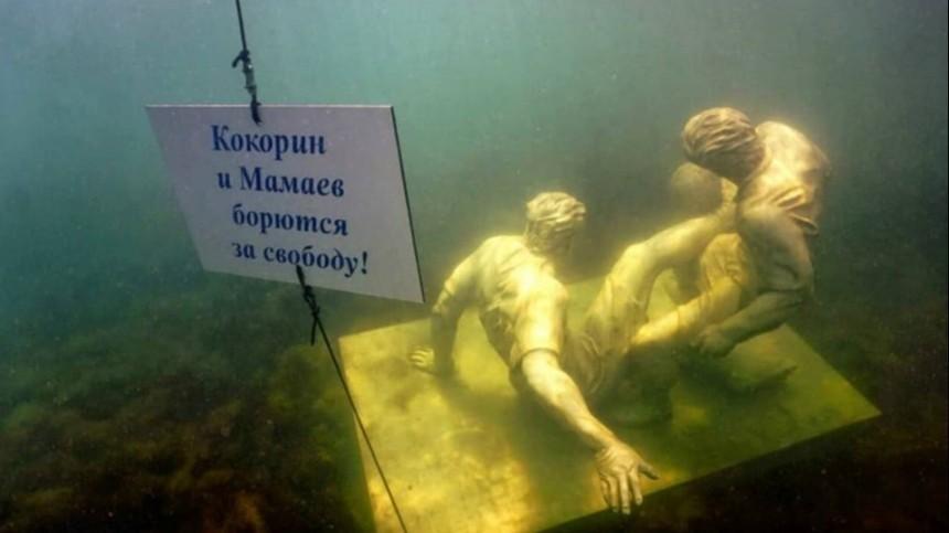 Опустились надно: ВЧерном море установили памятник Кокорину иМамаеву— фото