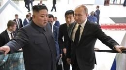 Фото: Марки вчесть встречи Владимира Путина иКим Чен Ына выпустили вКНДР