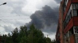 Крупный пожар наскладе завода «Заря» вДзержинске— видео
