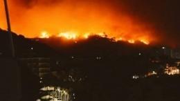 Видео: лесной пожар стал причиной эвакуации 10 тысяч человек