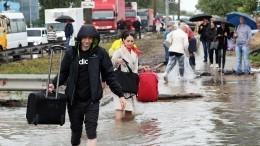 Видео: Из-за мощных ливней затопило Москву иПетербург
