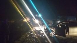 Появились первые фото сместа трагического ДТП вТуве