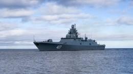 ВКронштадте встретили корабельный отряд Северного флота— видео
