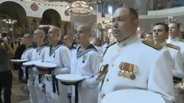 ВКронштадте освятили икону покровителя ВМФ— Лик святого апостола Андрея Первозванного