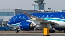 Самолет, летевший вДубай изБаку, вернулся назад из-за датчика дыма