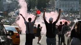 Нанесанкционированной акции вМоскве задержали более тысячи человек