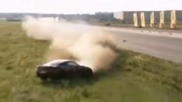 Момент гибели пилота нагонках «Московская миля» попал навидео