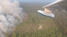 Авиация МЧС приступила ктушению лесных пожаров вКрасноярском крае— фото