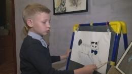 Девятилетний житель Нижнего Новгорода пишет картины, чтобы кормить приют для животных