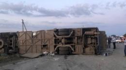 Пять человек погибли врезультате ДТП савтобусом наСтаврополье—страшные кадры