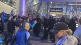 Видео: разгоряченных фанатов «Зенита» пришлось унимать силовикам