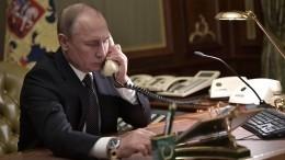 ВКремле рассказали детали телефонного разговора Путина иЗеленского