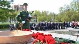 ВПетербурге прошла траурная церемония послучаю окончания Ленинградской битвы