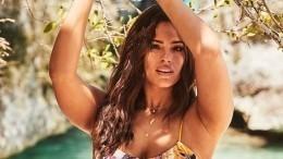 «Целлюлит оставила»: Plus-size модель Эшли Грэм показала фото вбелье без ретуши