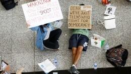 Суд Гонконга выписал ордер наразгон демонстрантов ваэропорту