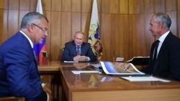 Путин проверил ход строительства трассы «Таврида» вКрыму