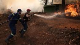 Видео: Нагреческой Эвбее эвакуируют жителей из-за лесных пожаров