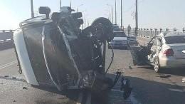 Видео: под Саратовом десять человек пострадали вДТП с«Газелью»