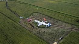 Видео скоптера: Следственная группа работает наместе аварийной посадки А-321