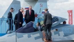 Путин иЭрдоган осмотрели новейший Су-57 наМАКС-2019