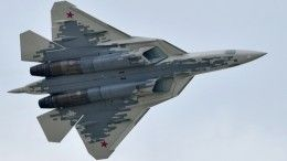 Видео: необычная посадка Су-57 наавиасалоне МАКС-2019