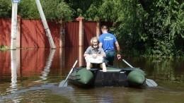 Уровень воды вАмуре уКомсомольска превысил опасную отметку