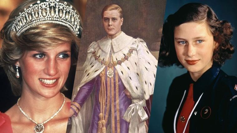 Слева направо: принцесса Диана, король Эдуар VIII, принцесса Маргарет