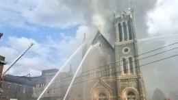Храм Большого библейского пути полыхает вФиладельфии