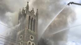 Перед пожаром накрыше церкви вФиладельфии видели человека сгазовым баллоном