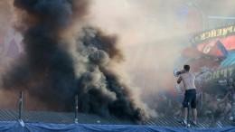 Дым ивзрывы: болельщики ЦСКА оторвались вТуле
