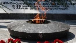 Вечный огонь, привезенный сМогилы неизвестного солдата, зажгли вСловении