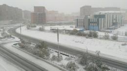 «Старки накаркали»: Первый снег выпал вНорильске— видео