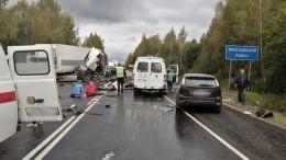 Первые кадры сместа смертельного ДТП вЯрославской области