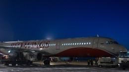 Пассажиры самолета сзадымившимся шасси ожидают вылета изТивата вМоскву