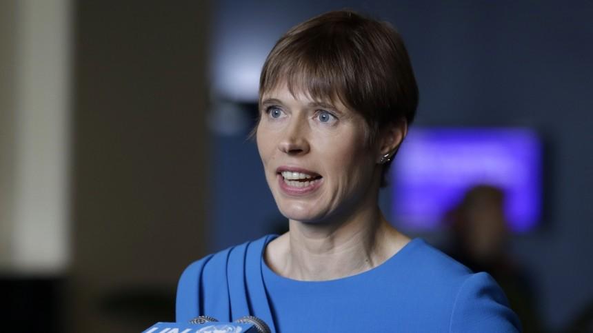 Глава Эстонии заявила осамостоятельности переговоров сРоссией