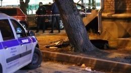 Жуткие кадры сместа расстрела полицейских вМоскве (18+)