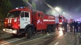 Пожар вторговом центре «Гранд Парк» вГрозном ликвидирован