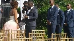 Оптическая иллюзия наградила невесту огромной «пятой точкой»— фото