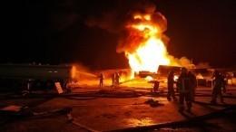 Впромышленном районе Киева сгорели девять заполненных бензовозов