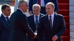 Путин прибыл насаммит ЕврАзЭС вЕреван