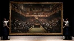 Картину-карикатуру набританский парламент Бэнкси продали за$12млн