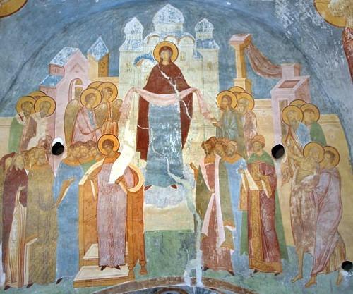 Фрагмент росписи собора Рождества Богородицы Ферапонтова монастыря, 1502 год.