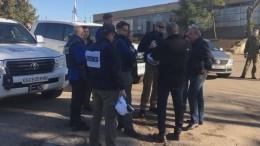 ОБСЕ прибыла вПетровское для наблюдения заразведением сил