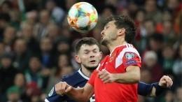 Второй гол подряд забила сборная России вматче скомандой Шотландии