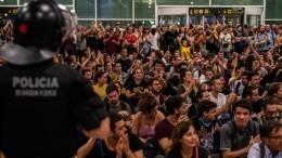 Более 70 человек пострадали вовремя беспорядков вКаталонии