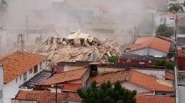 ВБразилии обрушился семиэтажный жилой дом