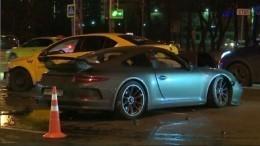 Что известно обаварии Porsche иавтомобиля такси вМоскве